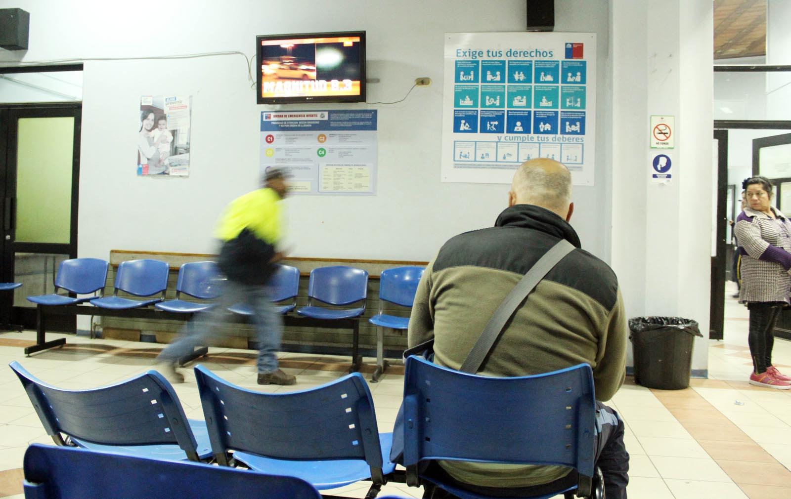 La posta infantil del hospital Van Buren quedó vacía tras la evacuación.