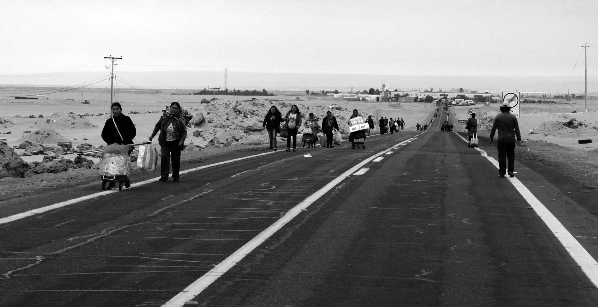 Un paro de transportistas mantuvo bloqueada la ruta.