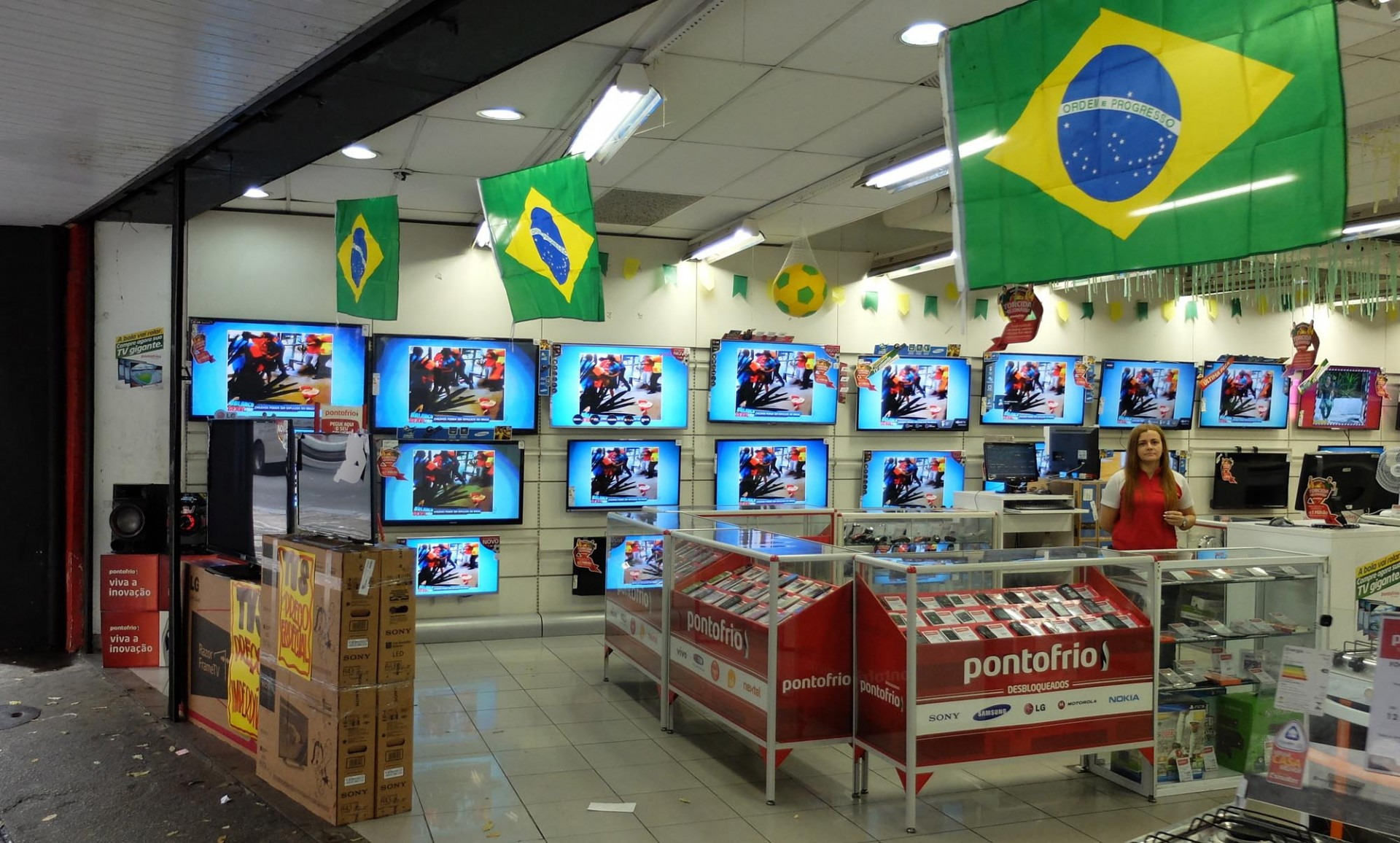 La economía brasileña se ha volcado hacia el mundial. No ganar la copa afectaría también las ventas.
