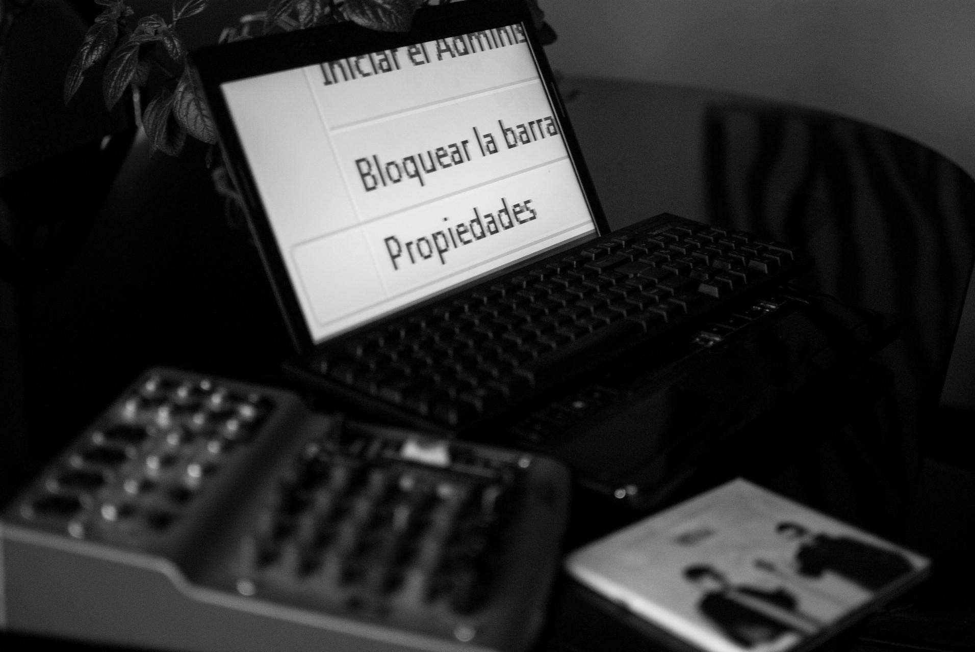 Las letras grandes que permiten a un participante del Festival acceder a este tipo de tecnología.
