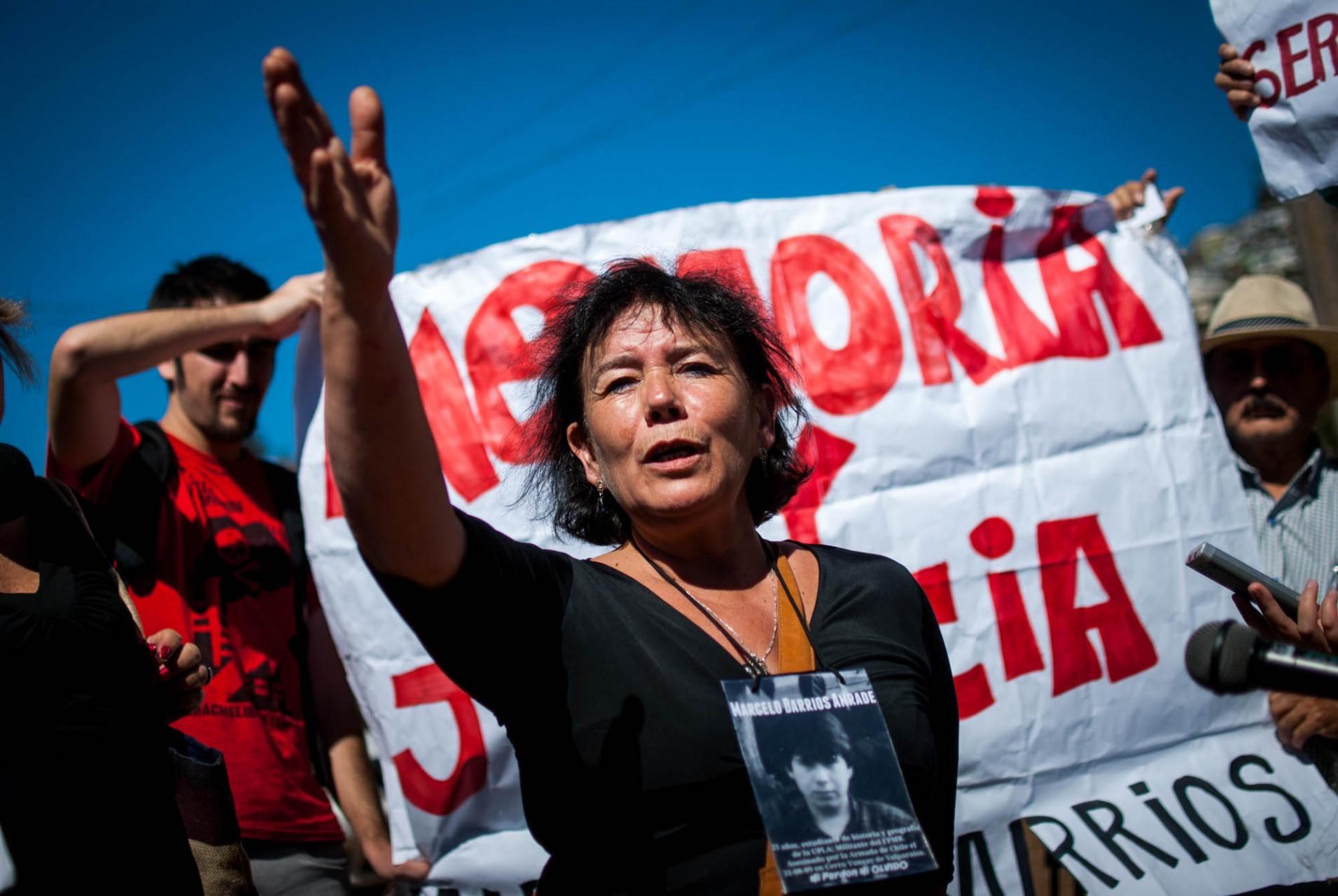 Gladys Barrios, hermana del joven asesinado.