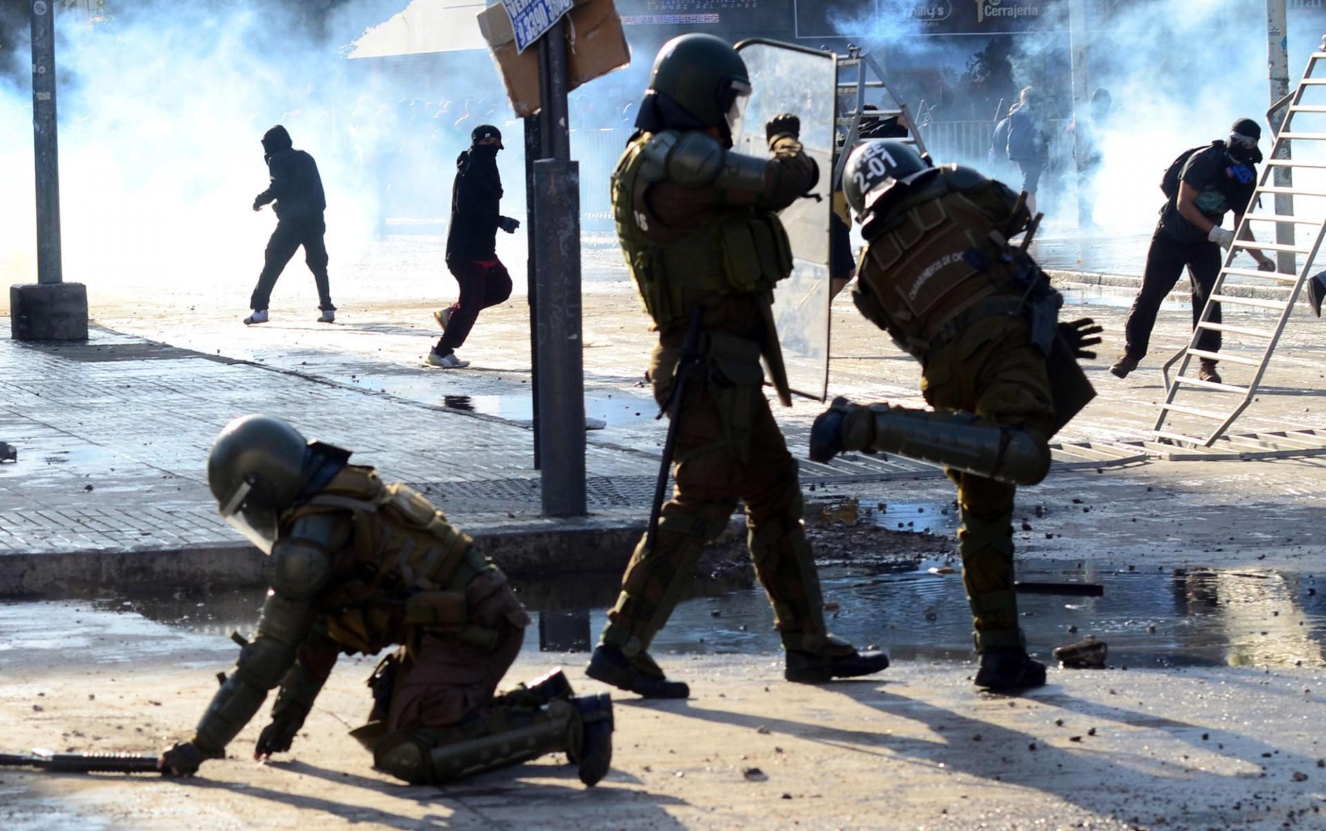 viña del mar, Chile. 23/02/2020. manifestaciones por el festivl de viña